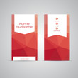 Modern Business-Card polygon red