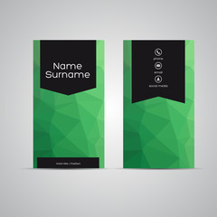 Modern Business-Card polygon green
