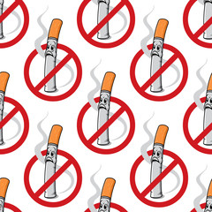 No Smoking seamless background pattern