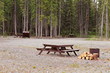 Camp ground campsites camping table firepits - 65780499