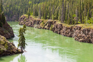 Yukon River water Miles Canyon Whitehorse Canada
