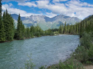 Wheaton River alpine valley Yukon Territory Canada