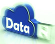 Data Cloud USB drive Shows Digital Files And Dataflow