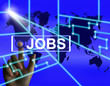 Jobs Screen Represents Worldwide or Internet Career Search