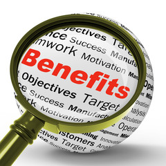 Benefits Magnifier Definition Means Advantages Or Monetary Bonus