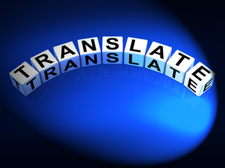 Translate Dice Show Multilingual or International Translator