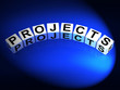Projects Dice Represent Ideas activities Tasks and Enterprises