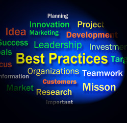 Best Practices Words Shows Optimum Business Procedures