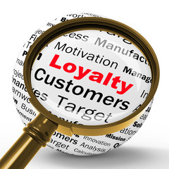 Loyalty Magnifier Definition Shows Honest Fidelity And Reliabili