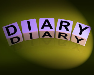 Diary Dice Mean Journal Blog or Autobiographical Record