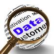 Data Magnifier Definition Means Digital Information Or Database
