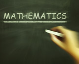 Mathematics Chalk Means Geometry Calculus Or Statistics poster