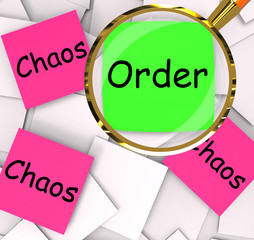 Order Chaos Post-It Papers Mean Orderly Or Chaotic