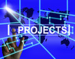 Projects Screen Indicates International or Internet Task or Acti