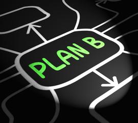 Plan B Arrows Shows Contingency Or Fallback