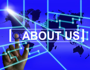 About Us Screen Shows Website Information of an International Co