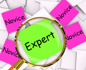 Expert Novice Post-It Papers Mean Experienced Or Inexperienced