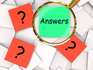 Questions Answers Post-It Papers Mean Inquiries And Solutions