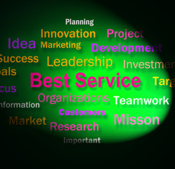 Best Service Words Shows Steps For Delivery Of Services