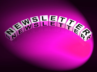Newsletter Letters Show Publication Of Updates And Reports