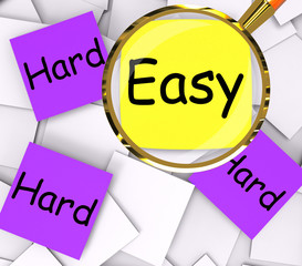 Easy Hard Post-It Papers Mean Simple Or Tough