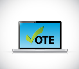 vote online computer concept illustration design