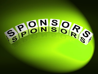 Sponsors Dice Represent Advocates Supporters and Benefactors