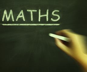 Maths Chalk Means Arithmetic Numbers And Calculations