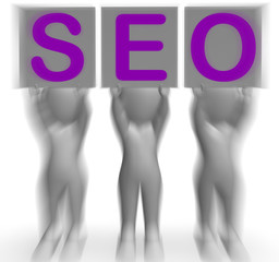 SEO Placards Mean Optimized Web Search And Development