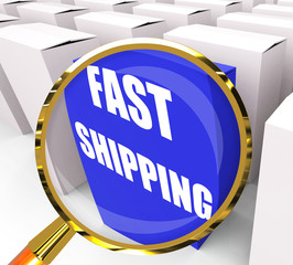 Fast Shipping Packet Shows Quick Deliveries and Transportation