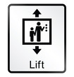 lift related public information sign