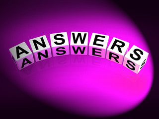 Answers Dice Represent Responses and Solutions to Questions