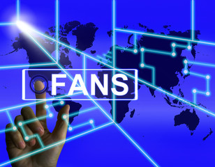 Fans Screen Shows Worldwide or Internet Followers or Admirers