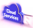 Cloud Services Cloud USB drive Shows Online Computing Services