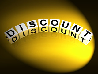 Discount Dice Show Discounts Reductions and Percent Off