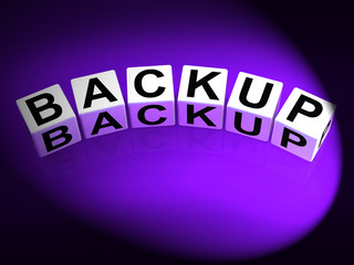 Backup Dice Mean Store Restore or Transfer Documents or Files
