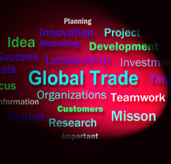 Global Trade Words Means Planning For International Commerce