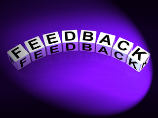 Feedback Dice Means Comment Evaluate and Review