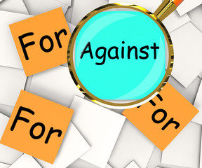 Against For Post-It Papers Mean Disagree With Or Support