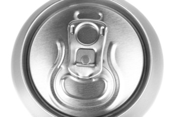 aluminum can isolated on white