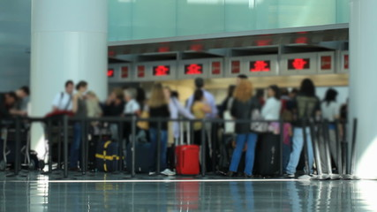 Airport Travelers Check-in Area