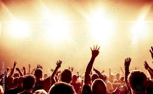 canvas print picture Jubelnde Konzertbesucher auf Rock-Konzert
