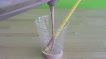serving a milkshake