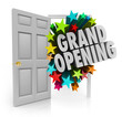Grand Opening Words Stars Open Door Big Sale Invitation