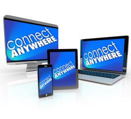 Connect Anywhere Computer Laptop Smart Phone Desktop Tablet Devi