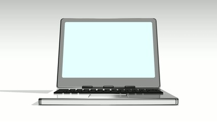 Laptop On White_Front