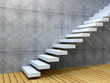 3D conceptual stair background
