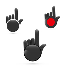 Pointer hands set icon logo vector