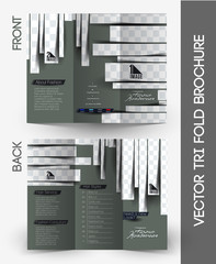 Fashion Hairdresser Tri-Fold Brochure Design.