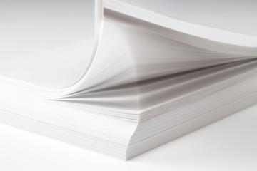 A4 printer paper on white
